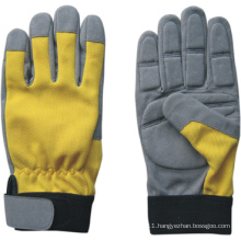 Synthetic Leather Mechanic Anti-Vibration Glove-7207