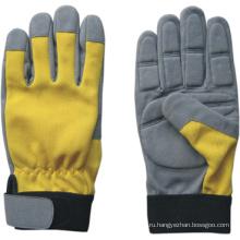 Синтетическая кожаная механическая противовибрационная перчатка-7207