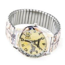 Reloj elástico de la voga del reloj de las señoras de la manera promocional del ocio