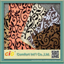 Low Price Flocking Design Sofa Fabric for Wholesale