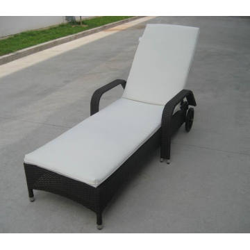 Fabric Outdoor Indoor Chaise Lounge Rattan