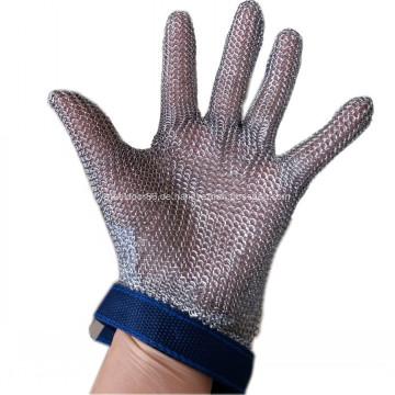 Handgelenk Länge Stahlring Mesh Metzger Handschuh
