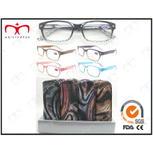 Fashion Plastic Reading Glasses with Pouch (MRP21587)