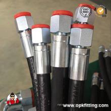 Tuyau hydraulique de tuyau de tresse de deux fils SAE 100 R2hose / tuyau hydraulique 853 2sn