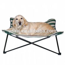 portable foldable pet bed metal and polyester big dog beds