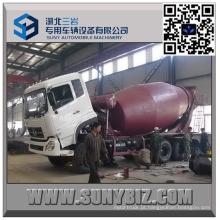 Caminhão do misturador de cimento do motor 8 M3 de DFAC Dalishen CUMMINS