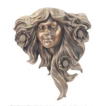 Рельеф Латунь Статуя Цветок Рельеф Деко Бронзовая Скульптура Т-903