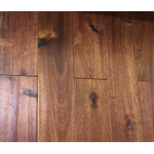 Cheap Handscraped Black Walnut Stain Small Leaf Click System Acacia Engneered Suelo de madera
