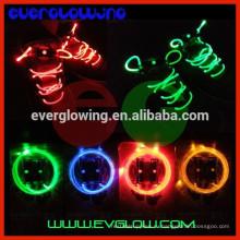 Красочный светодиодные мигающий шнурки