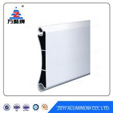 Extruded aluminum profile for rolling shutter door