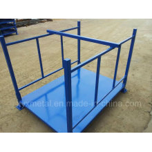 Construção de aço empilhável dobrável dobrável Fixação de armazenamento de metais
