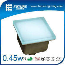 red color 100*100 waterproof led toughed glass wall brick light