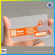 Offset printing transparent printable business card template
