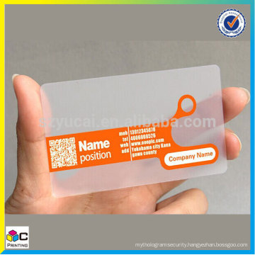 competitive price brilliant quality clear transparent pvc business cards