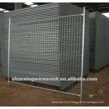 Usine de clôture temporaire galvanisée puis revêtue de PVC