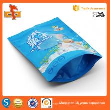 Impression personnalisée sur mesure sachet en plastique plastifié ziplockfood avec fenêtre