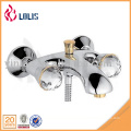 Best selling products wall mount double handle crystal european bath faucet