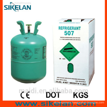 R507 Refrigerant Gas of High Quality,30lb Cylinde
