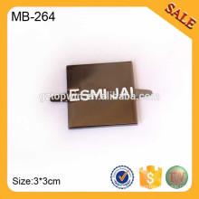 MB264 kundenspezifische quadratische Handtasche Metallbeutel-Logo-Schwarzes Farben-Namensschild-Umbau für Gepäck