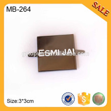 MB264 Bolso cuadrado de encargo Bolso del metal Logotipo Etiqueta de la placa del nombre de la pintura negra para el equipaje