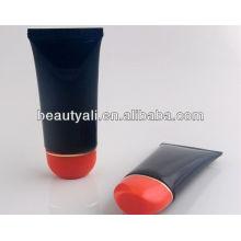 Acabamento fosco tubo de plástico para creme de mão com tampa oval flip top