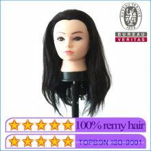 100% Human Hair Mannequin Head for Training