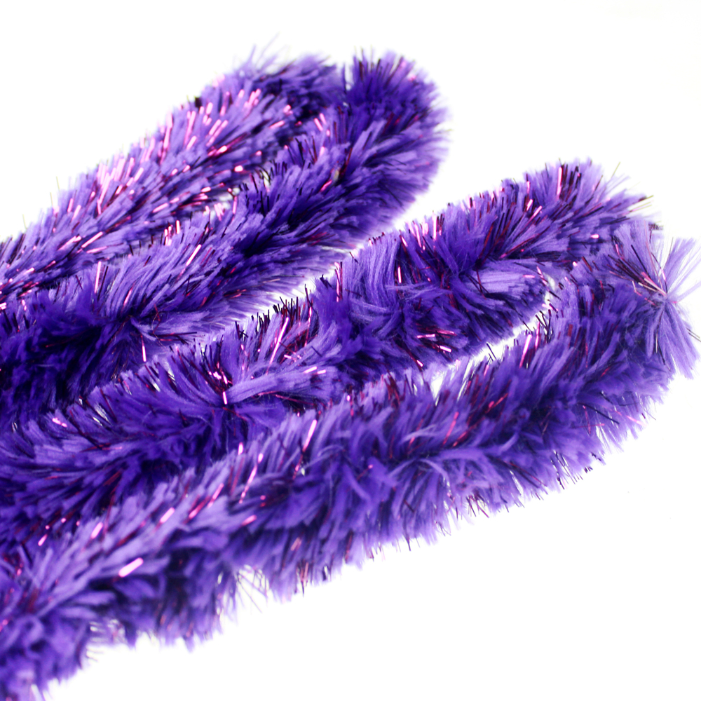 Fuzzy tinsel stick