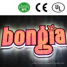 Letreros de letras de canal LED con iluminación completa profesional interior y exterior