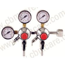 Universal Medical Oxygen Suction Regulator with Flowmeter
