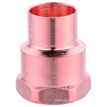 Raccord de tuyau en cuivre, adaptateur m / f, J9022 Adaptateur femelle FTGXF, UPC, NSF SABS, homologué WRAS,