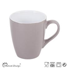 Taza de café de cerámica de 12oz que satina