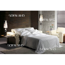 Itália Móveis de couro Sofá-cama moderno (570)