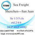Shenzhen Port Sea Freight Shipping à San Juan