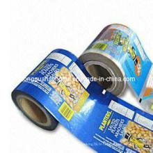 Flm en plastique d'emballage de maïs soufflé / film gonflé d'emballage de riz / film d'emballage alimentaire soufflé