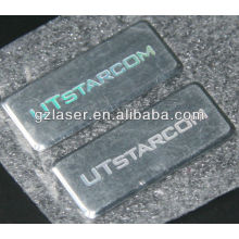 Hologram metal labels and tags