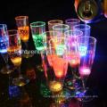 costom llevada 150ml líquido activo decorativa LED Copa de champán resplandor taza de cristal para el club