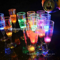 costom led glass 150ml liquid active Decorative LED champagne glass glow cup for club