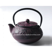 Pcp06 Gusseisen Teekanne in lila Farbe
