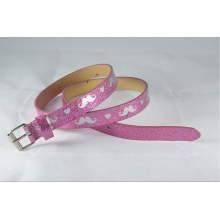 New arrival 2014 Fashion glitter lady pu belt with glittler-KL0014