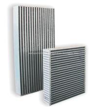 Placa de aluminio de alta calidad y núcleos del enfriador de barras