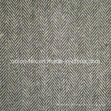 Woll-Polyester-Gewebe mit Fischgrät für Mantel (Art # UW083)