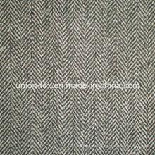 Tejido de poliéster de lana con aros de espiga para el abrigo (Art # UW083)