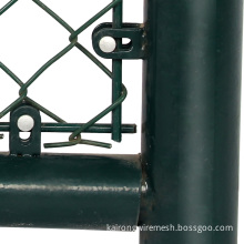 small hole chain link fence double swing gate