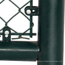 Agujero pequeño cerca de eslabón de cadena doble puerta batiente