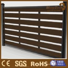 Painel de cerca de madeira de alumínio, Foshan New Fence Promotion