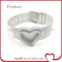 Hommes charmes flottants en acier inoxydable bracelet en gros