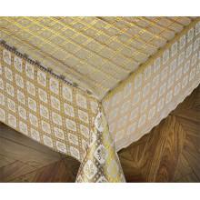 137cm PVC Gold Lace Tischdecken neue Designs