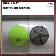 50# Ceramic Body Grinding Plate for Concrete