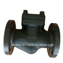 Válvula de retención de pistón extremo de conexión de brida de acero forjado estándar DIN