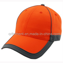 Reflexivo Banding 100% poliéster neon cor de segurança boné de beisebol (TMB0686)